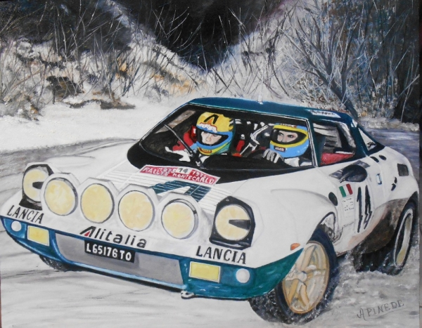 Alain Pinède, un peintre contemporain de la course automobile