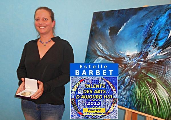 L'exposition d'Estelle BARBET marque un temps-fort au coeur de notre expression contemporaine picturale. Découverte lors d'une sélection nationale, elle a obtenu la Médaille de