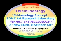 International Telemuseology Logo - e-Museology Concept EDMC Art Research Laboratory for NICT and Museology - A New EDMC Art e-Science - © 2020 EDMC
