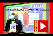 VIDEO ADOPTION A PARIS LE 23 OCTOBRE 2020 DU MANIFESTE ECOLE DE PARIS DU XXI EME SIECLE