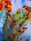 ESSENTIAL FLOWERS, PEINTURE EN IMPRESSIONNISME ABSTRAIT DE DOMINIQUE BOYER