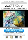 LE PEINTRE CHRIST SORIN EN EXPOSITION SUR LA CÔTE-D'AZUR: UN EVENEMENTIEL PICTURAL CET ETE ... SON ABSTRACTION ABOUTIE, DIFFERENTE, INTERPRETE DES SENSATIONS PAYSAGISTES...A NE PAS MANQUER EN AOUT