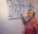 Vers une abstraction différente avec Christiane BROUSSARD qui présente ici une de ses oeuvres au Pôle d'Exposition