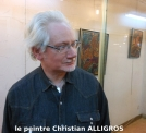 Le peintre Christian Alligros