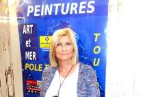 la peintre Christiane BROUSSARD ( signature CRI) Un paysagisme abstrait littoral et portuaire novateur, de niveau international