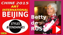 VIDEO PRESENTATION A PEKIN 2015 BETTY DE RUS, PEINTRE ABSTRAITE
