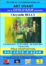 Affiche d' Exposition de la peintre Chrystelle BELLY
