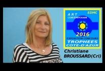 la peintre Christiane BROUSSARD, CRI, le talent de l'impressionnisme-abstrait aujourd'hui
