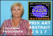 Christiane BROUSSARD, peintre contemporaine, Prix Art ABSTRAIT