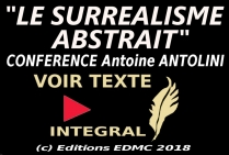 HOMMAGE ARTISTIQUE <br/>INTERNATIONAL AU <br/>SURREALISME ABSTRAIT 2018